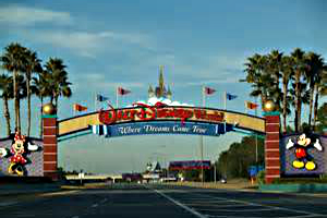1. Osceola Parkway to the Disney arches and connector freeway